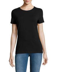 Saks Fifth Avenue Black - Short-sleeve Heathered Tee - Lyst