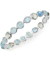 Ippolita - Rock Candy Semi-precious Multi-stone & Sterling Silver Mini Hero Bangle Bracelet - Lyst