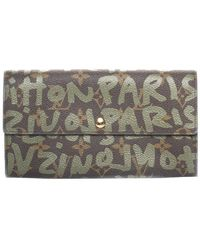 Louis Vuitton - Limited Edition Stephen Sprouse Green Graffiti Monogram Canvas Wallet - Lyst