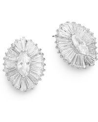 CZ by Kenneth Jay Lane - Marquis Brilliance Earrings - Lyst