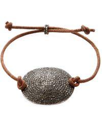 Karma Jewels - Silver & 3.05 Total Ct. Diamond Rope Bracelet - Lyst