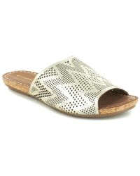 Chocolat Blu - Bruno Leather Slide Sandal - Lyst