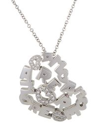 Pasquale Bruni - 18k 0.16 Ct. Tw. Diamond & Sapphire Necklace - Lyst