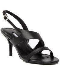 5cec57d644f Stuart Weitzman Black Carmina Sandals in Black - Lyst