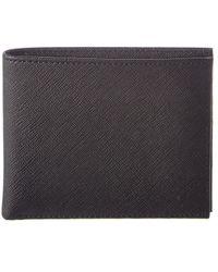 Brooks Brothers - Stripe Leather Billfold - Lyst