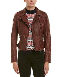 Karen Millen - Leather Jacket - Lyst