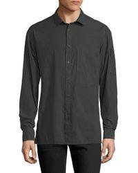 BLK DNM - Solid Spread Collar Sportshirt - Lyst