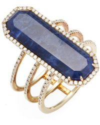Meira T - Yellow Gold Lapis Ring - Lyst