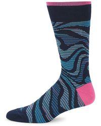 Bugatchi - Graphic Crew Socks - Lyst