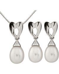 Splendid - 10k 7-8mm Freshwater Pearl Drop Earring & Necklace Set - Lyst