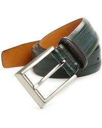 Saks Fifth Avenue - Textured Leather Belt - Lyst