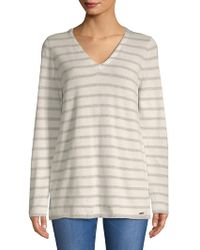 CALVIN KLEIN 205W39NYC - Two-tone V-neck Sweater - Lyst