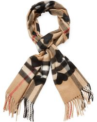 """Burberry - Cashmere Heart Scarf, 60"""" X 12"""" - Lyst"""