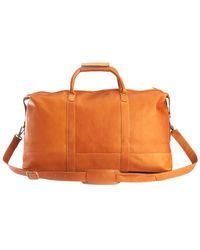 Royce - Colombian Leather Weekender Duffel Bag - Lyst