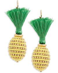 Natasha Couture - Pineapple Tassel Earrings - Lyst