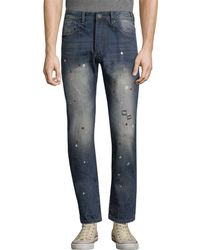Mostly Heard Rarely Seen - Mosaic Splatter Slim Pant - Lyst