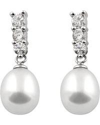 Splendid - Silver 7-8mm Freshwater Pearl Earrings - Lyst