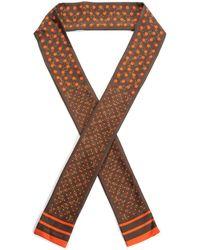Louis Vuitton - Brown & Orange Silk Twilly - Lyst