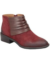 Comfortiva - Corliss Suede Ankle Bootie - Lyst
