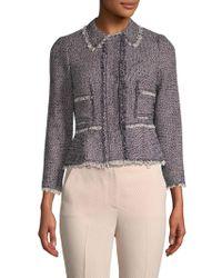 Rebecca Taylor - Confetti Tweed Cotton Jacket - Lyst
