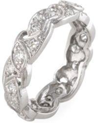 Estate Fine Jewelry - Vintage Platinum & 0.60 Total Ct. Diamond Eternity Ring - Lyst