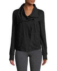 Betsey Johnson - Drape Collar Asymmetrical Jacket - Lyst