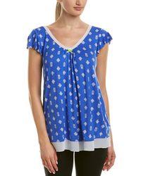Ellen Tracy - Printed Pyjama Top - Lyst