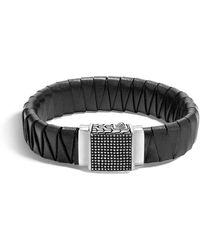 John Hardy - Braided Leather Bracelet - Lyst