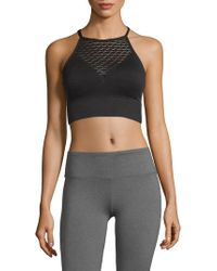 Betsey Johnson - Knitted Laser-cut Sports Bra - Lyst