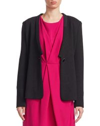 Armani | Solid Button Jacket | Lyst