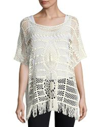 Trina Turk - Kimber Crochet-lace Sweater - Lyst