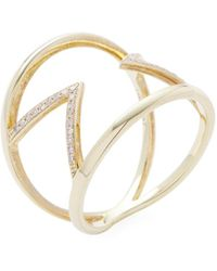 Meira T - 14k Yellow Gold & 0.12 Total Ct. Diamond Arrow Ring - Lyst