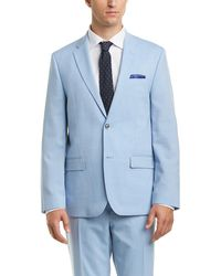 Ben Sherman - 2pc Wool-blend Suit With Flat Front Pant - Lyst