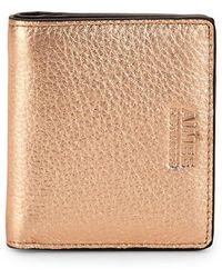 Aimee Kestenberg - Tuscany Metallic Leather Bifold Wallet - Lyst