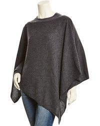 White + Warren - Charcoal Heather Cashmere Topper - Lyst