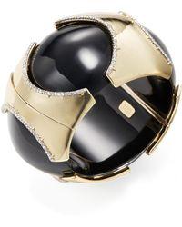 Alexis Bittar - Lucite Pave Edge Segmented Bangle Bracelet - Lyst