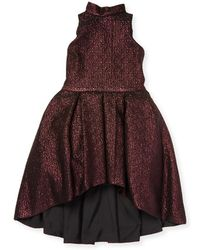 Zoe - Jacquard Distressed Dress - Lyst
