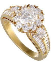 Heritage Van Cleef & Arpels - Van Cleef & Arpels 18k 3.03 Ct. Tw. Diamond Ring - Lyst