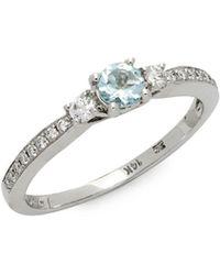 Le Vian - 14k Vanilla Gold Sea Blue Aquamarine & Vanilla Diamonds Ring - Lyst