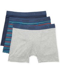 Lucky Brand - Cotton Boxer Brief (3 Pk) - Lyst