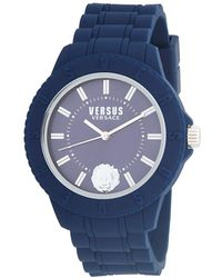 Versus - Silicone Strap Stainless Steel Watch - Lyst