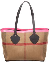 be69906cad8c Burberry - Check-print Canvas Shoulder Tote Bag - Lyst