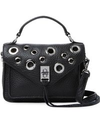 Rebecca Minkoff | Mini Darren Grommets Leather Messenger Bag | Lyst