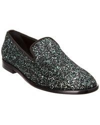 Jimmy Choo Coarse Glitter Slipper