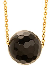Gorjana - Power 18k Plated Black Onyx Necklace - Lyst