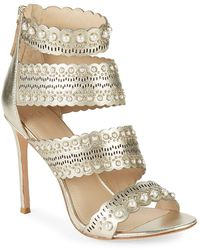 Pour La Victoire - Ellura Leather Stiletto Sandals - Lyst