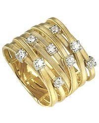 Marco Bicego - Goa 18k Two-tone 0.27 Ct. Tw. Diamond Ring - Lyst