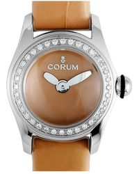 Corum Leather Diamond Watch