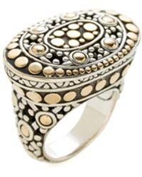 John Hardy - Jaisalmer Dot Gold & Silver Ring - Lyst
