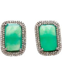 Adornia - Fine Jewellery Silver Chrysoprase Studs - Lyst
